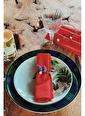 Arma House 4'Lü Lacivert Organik Kumaş Servis Sunum Peçetesi Kırmızı